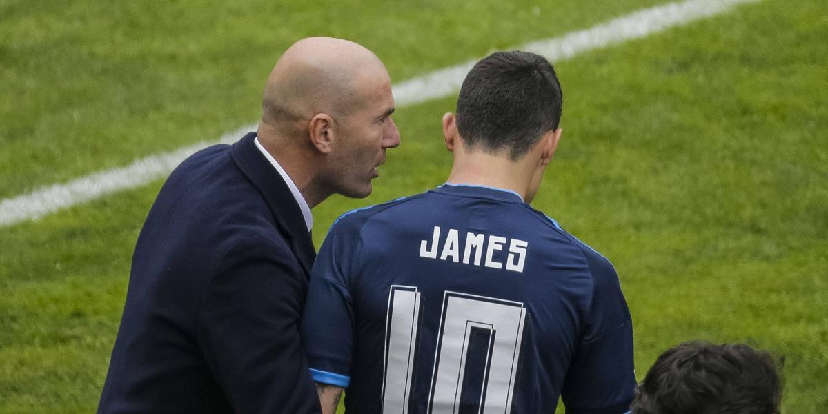 ¿A propósito? Zidane le da la despedida del Madrid a James Rodríguez