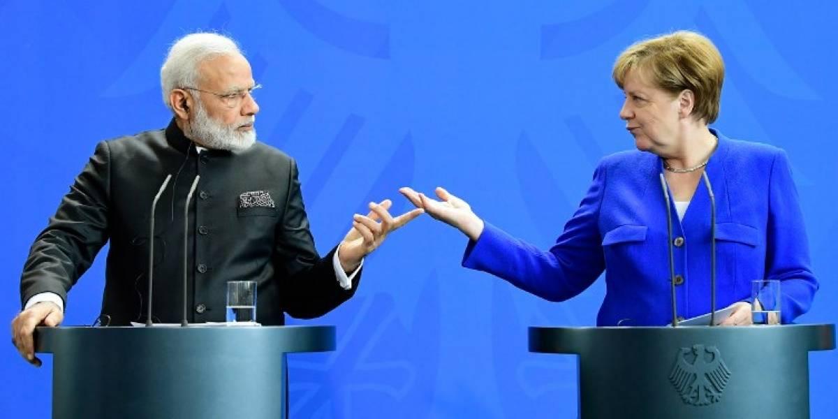 Merkel recibe al primer ministro de India