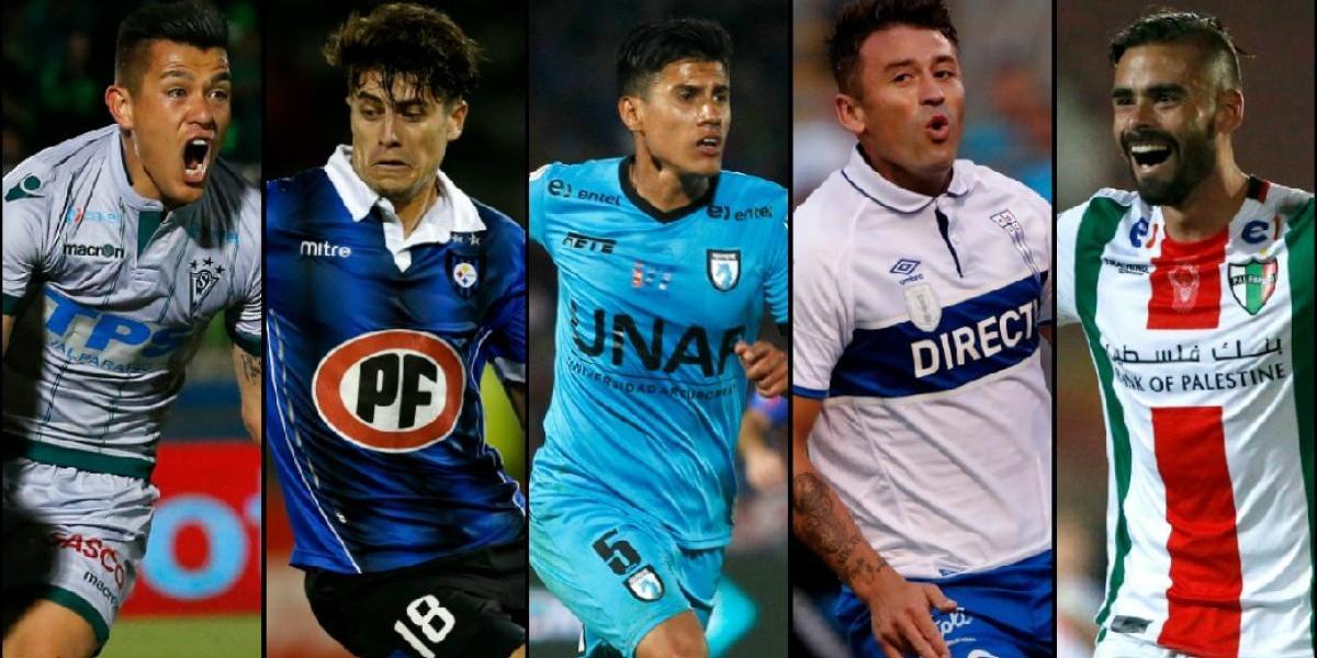 """Las 5 """"vedettes"""" del mercado de fichajes en el fútbol chileno"""
