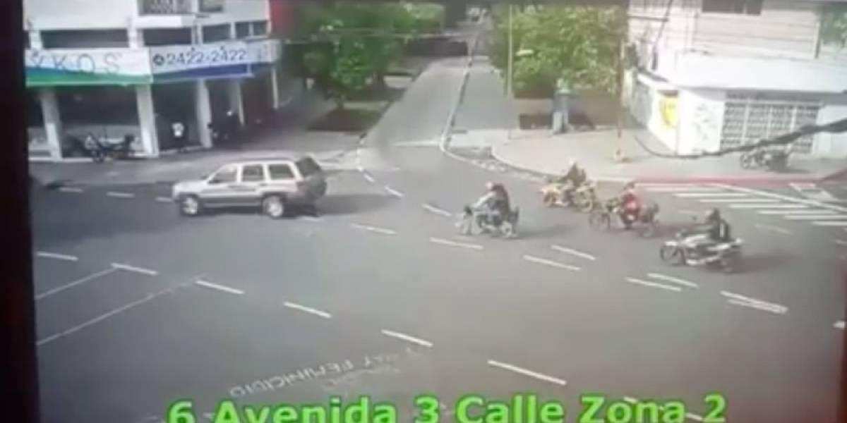 VIDEO. Difunden imágenes de mexicano que atropelló a personas en zona 2
