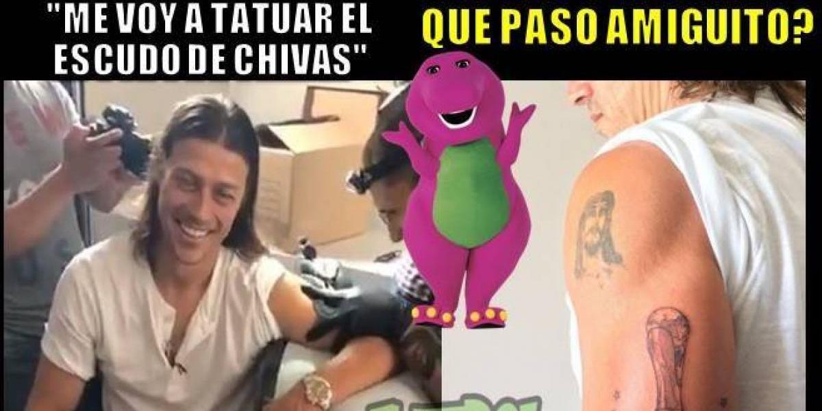 Tatuaje de Matías Almeyda genera burlas en redes sociales