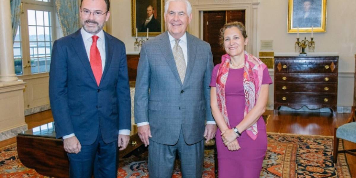 Videgaray, Tillerson y Freeland se reúnen en Washington