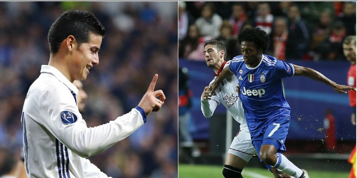 Se acerca el gran día: Juventus vs. Real Madrid, ¿Juegan los colombianos?