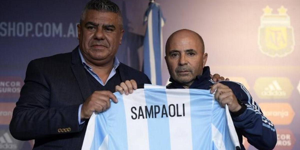 """Un emocionado Sampaoli fue presentado como entrenador de Argentina: """"Esto es un sueño"""""""