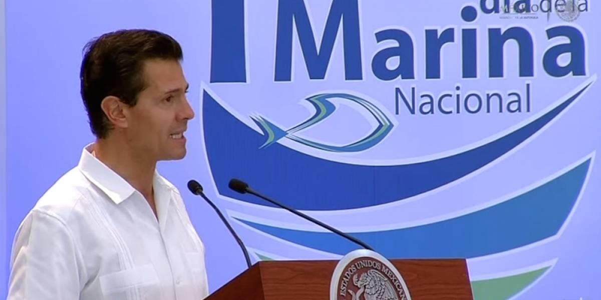Peña Nieto anuncia nuevas funciones de la Marina Armada de México