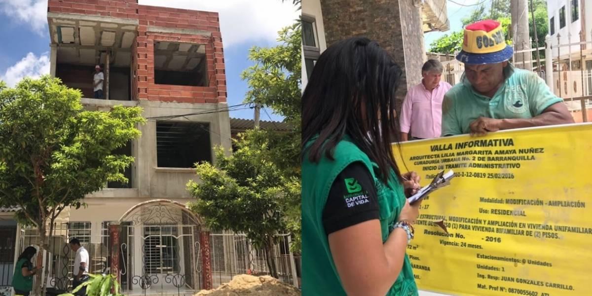 Mantienen operativos que sancionan obras sin licencia de construcción en Barranquilla