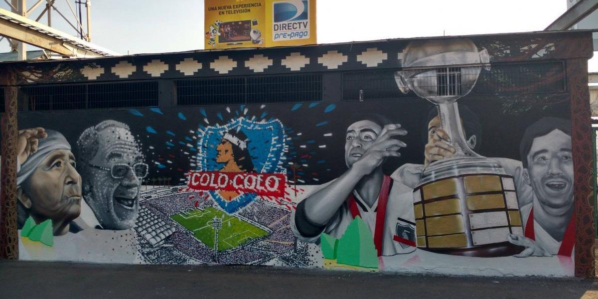 Colo Colo presentó nueva cara en el Estadio Monumental con conmemorativo mural