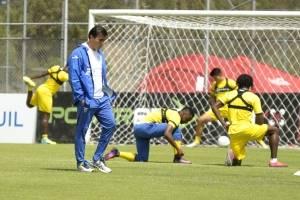 Selección de Ecuador en los entrenamientos en la Casa de la Selección