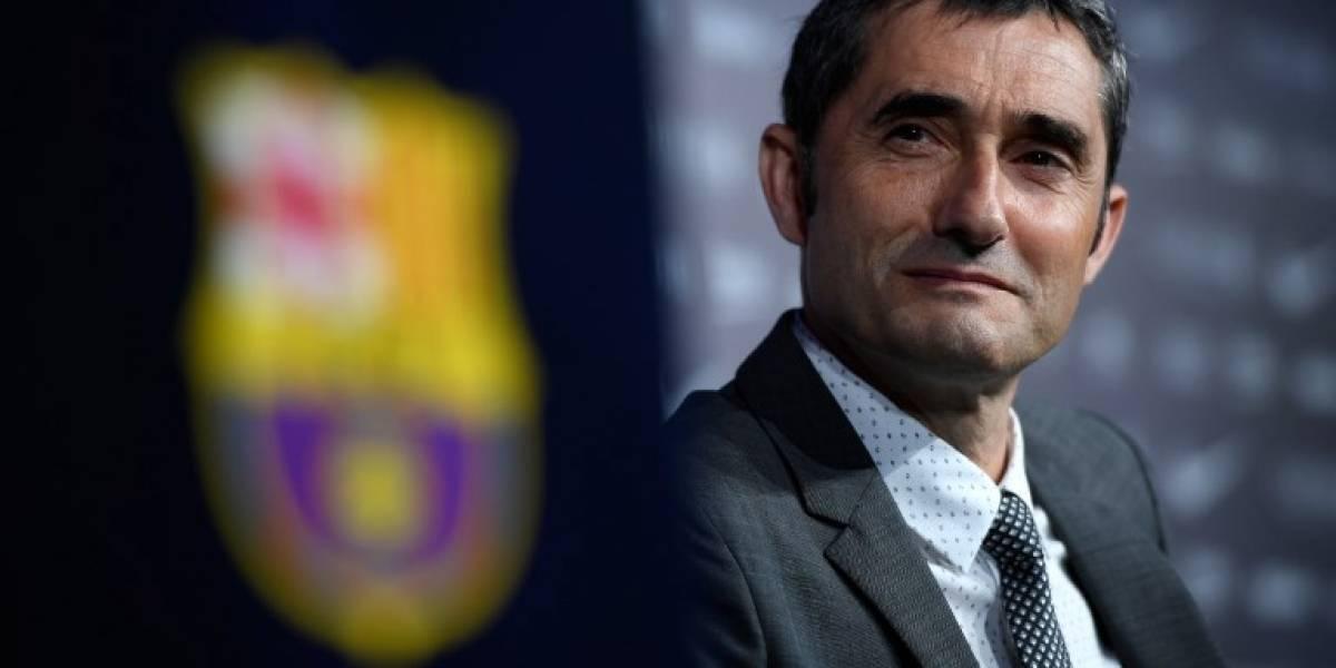EN IMÁGENES. Así fue la presentación del nuevo entrenador del Barcelona