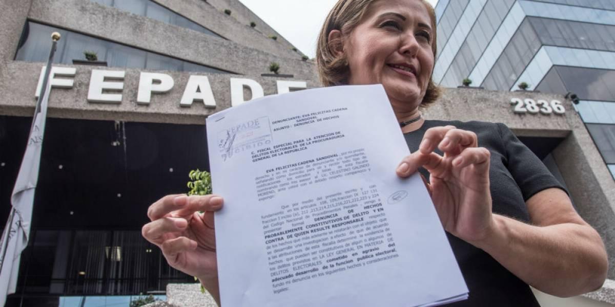 Eva Cadena denuncia a Morena ante Fepade por desvío de recursos