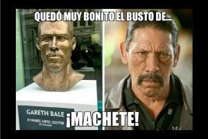 Memes del busto de Gareth Bale.