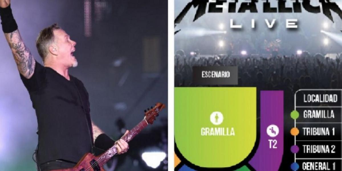 Anuncian fecha de venta de las entradas para Metallica