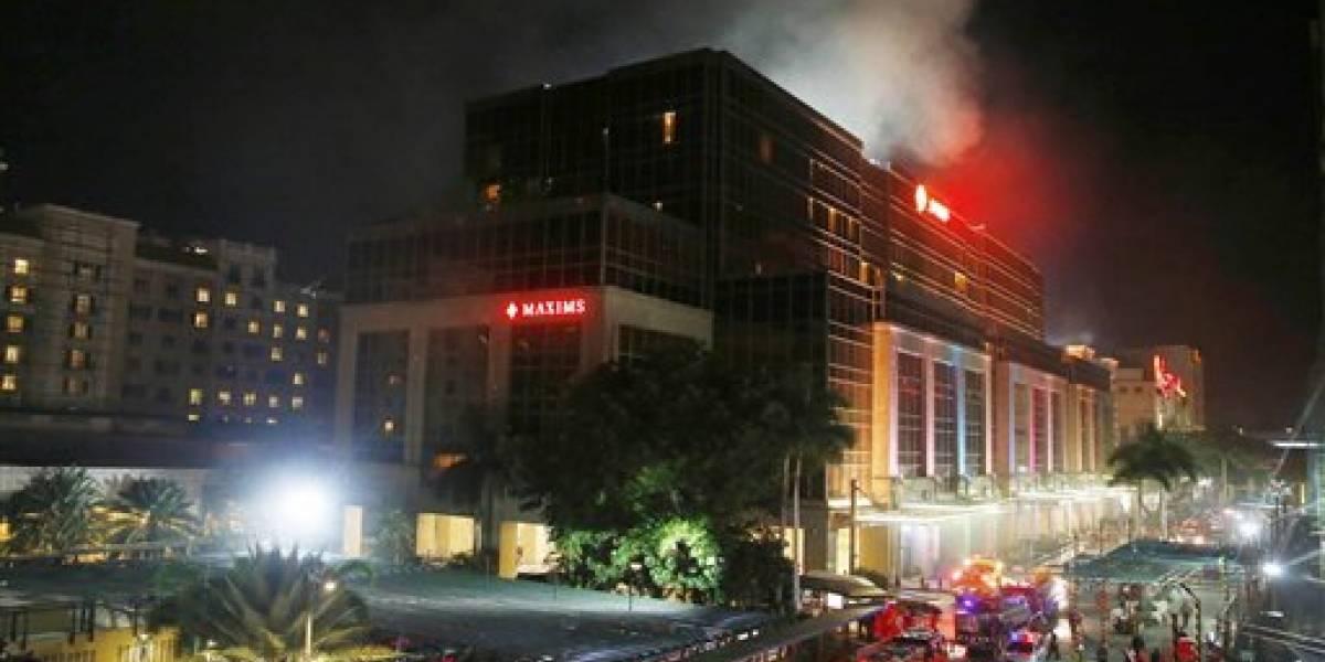 Intentan identificar a atacante de casino en Filipinas