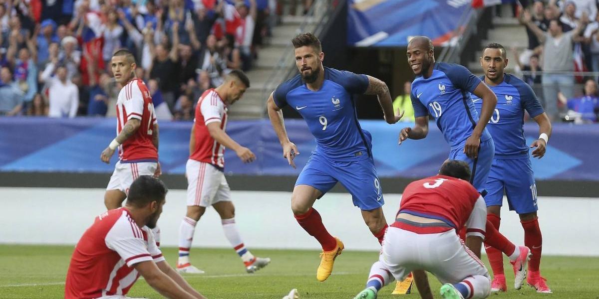Francia golea a Paraguay en partido amistoso