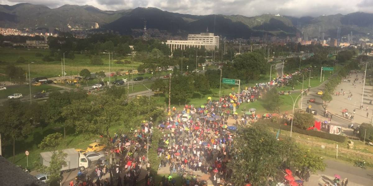 Estas vías se ven afectadas por las marchas de docentes