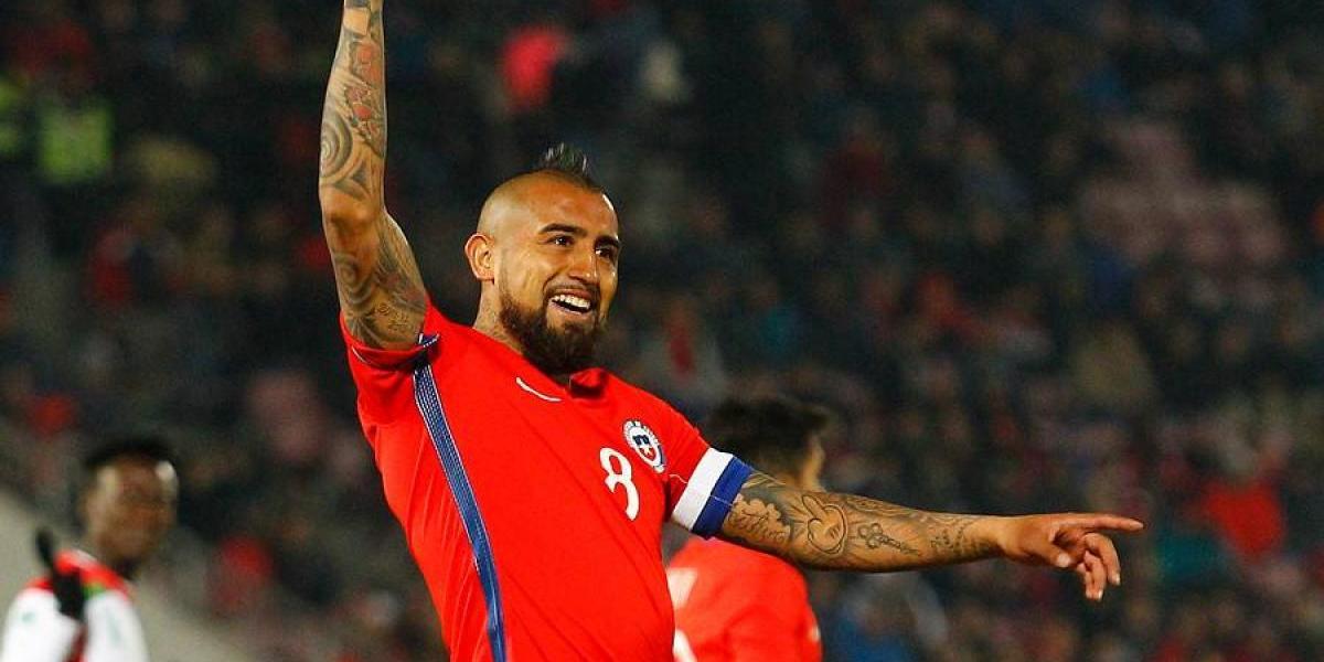 Vidal suma hitos y alcanzó al Mortero Aravena como el volante más goleador de la Roja