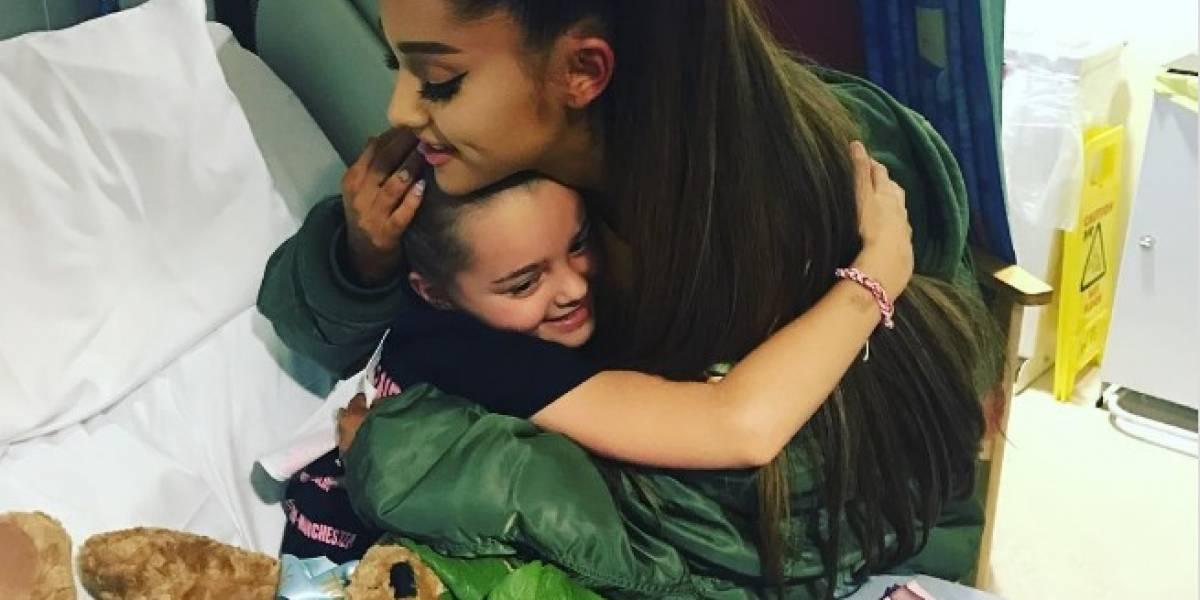 Ariana Grande sorprende y visita a los niños heridos durante el ataque de Manchester