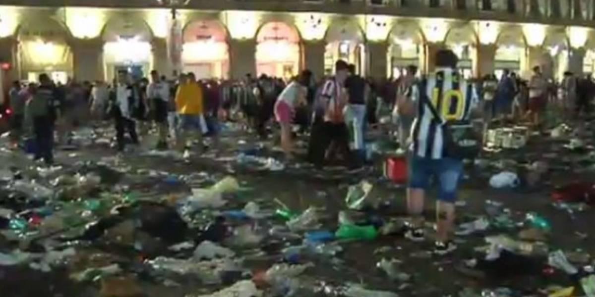VIDEO. Pánico y varios heridos tras confuso incidente en Turín