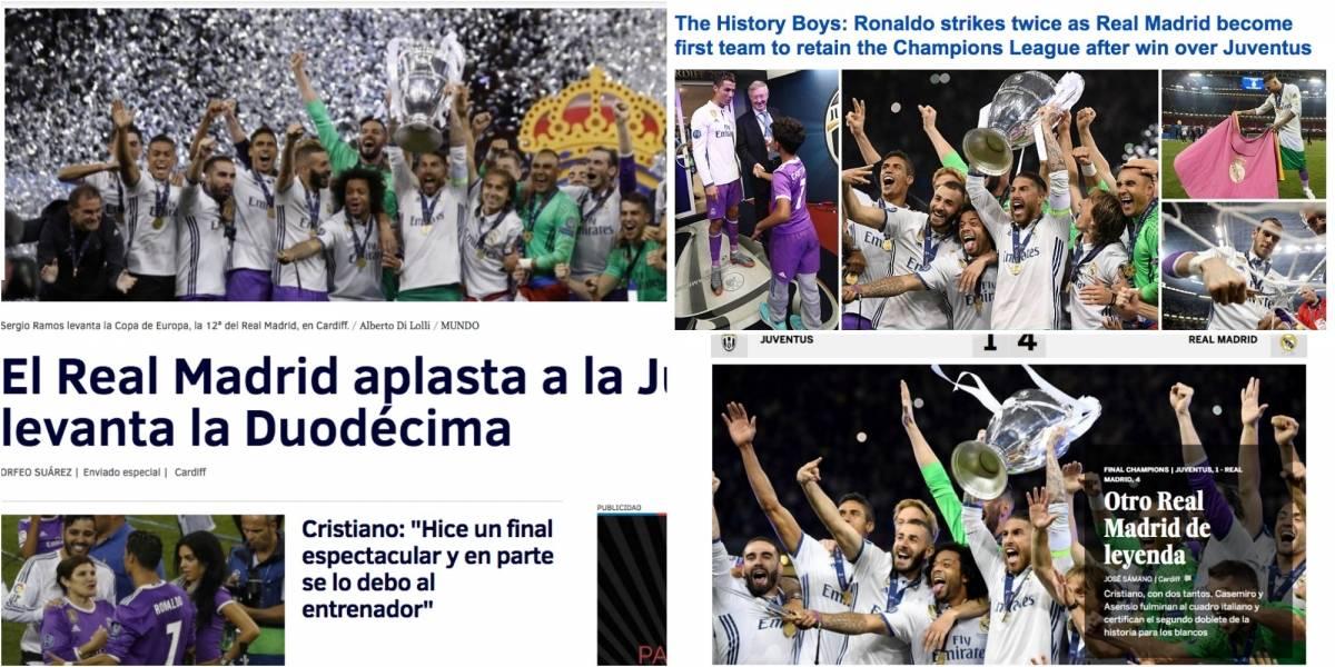 """""""Máquina de ganar"""" y """"Leyenda de la Champions"""": El mundo del fútbol a los pies del Real Madrid"""