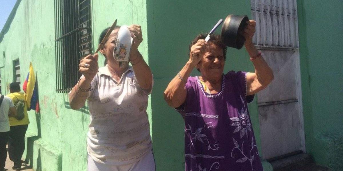 """""""La marcha de las ollas vacías"""": protestan contra el hambre en Venezuela"""