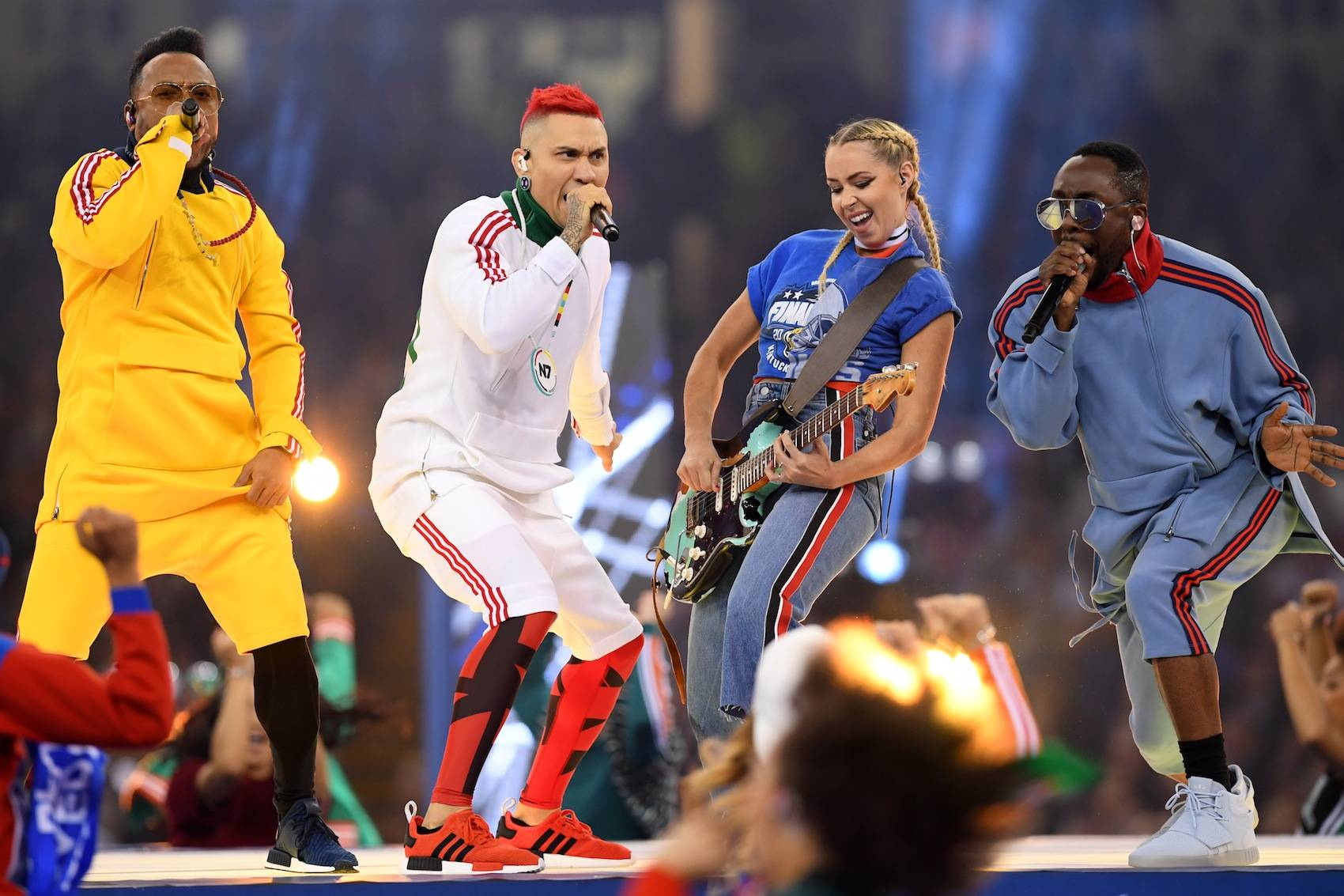 GETTY IMAGES Desangelada inauguración de la Champions League con Black Eyed Peas