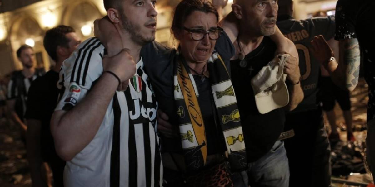 Pánico y varios heridos tras estampida por una supuesta detonación en 'fan zone' de la Juventus en Turín
