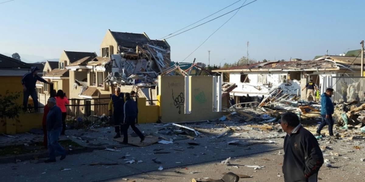 Tres personas con riesgo vital y diez casas afectadas deja violenta explosión en Quilpué