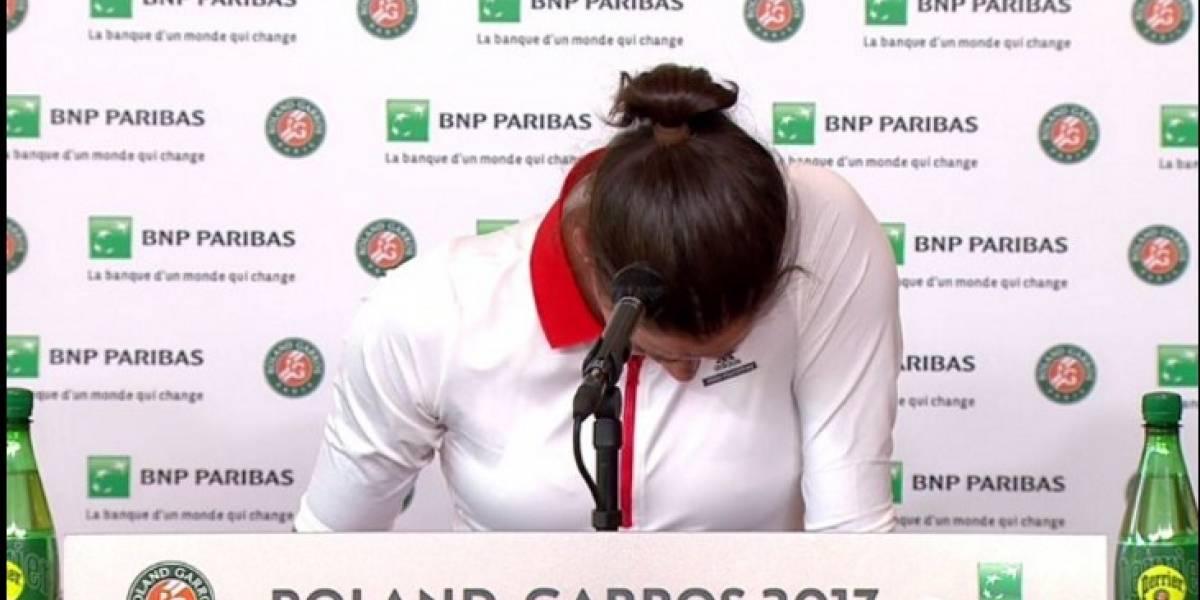 VIDEO: Muguruza llora en conferencia tras no poder ratificar su título de Roland Garros