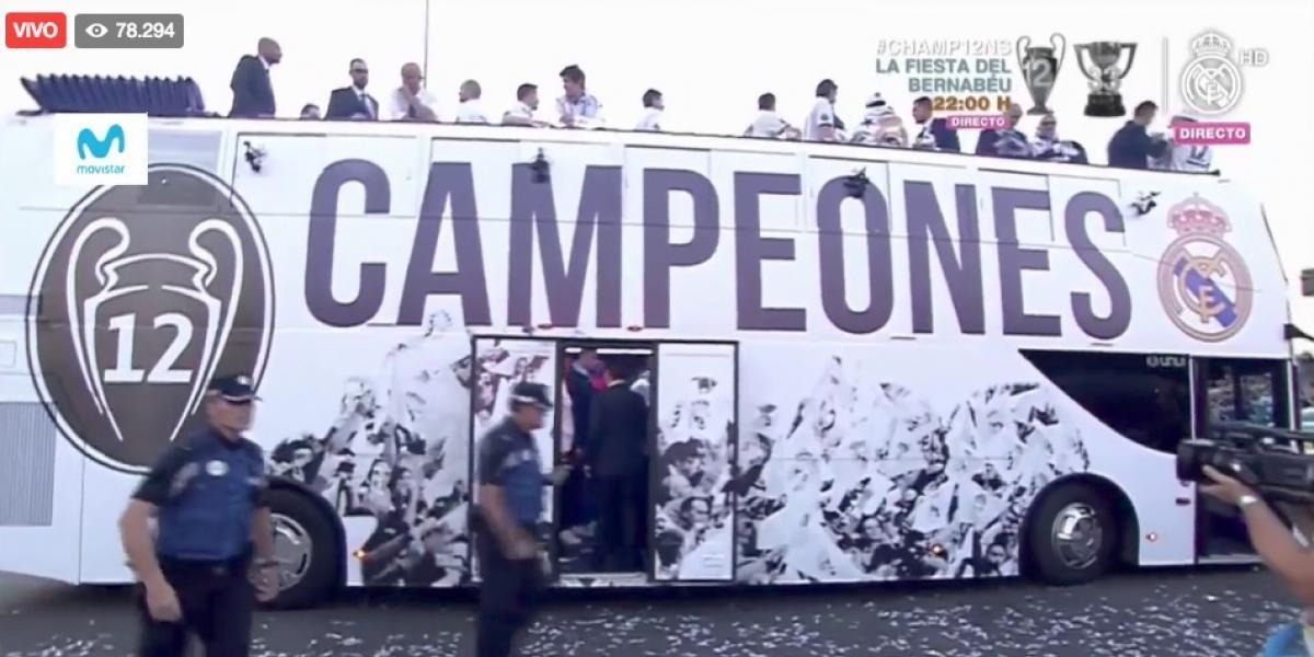 EN VIVO: Sigue todos los festejos del Real Madrid por la duodécima