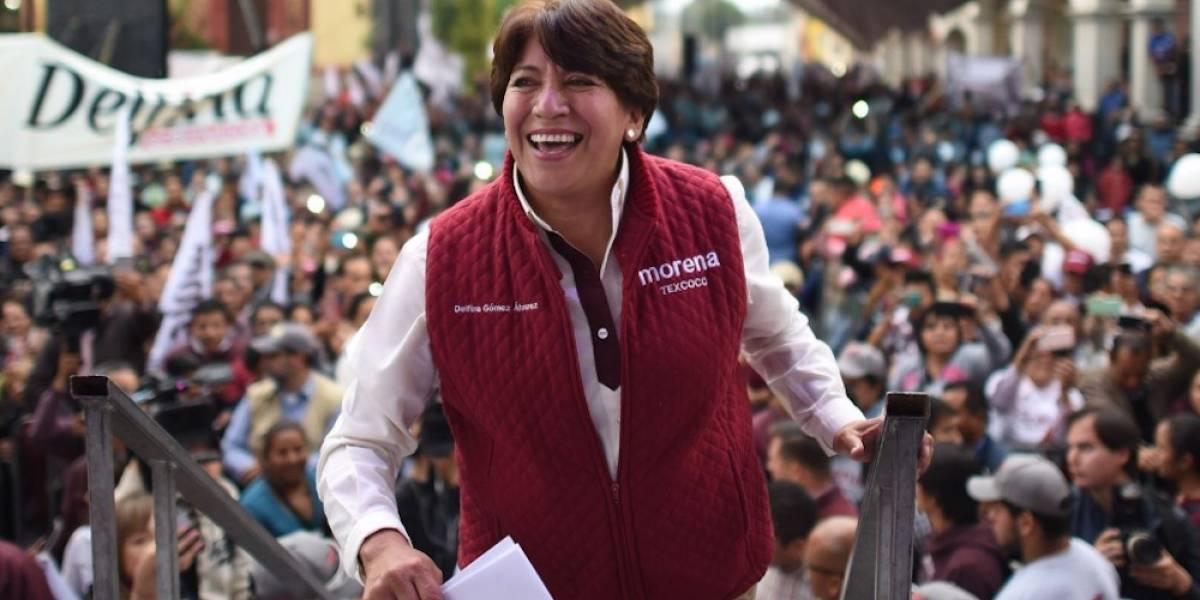 Morena declara ganadora a Delfina Gómez en el Edomex