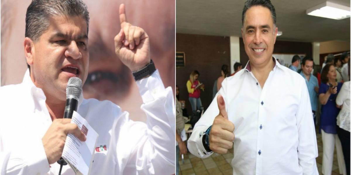 Candidatos del PRI y PAN a la gubernatura de Coahuila se declaran ganadores
