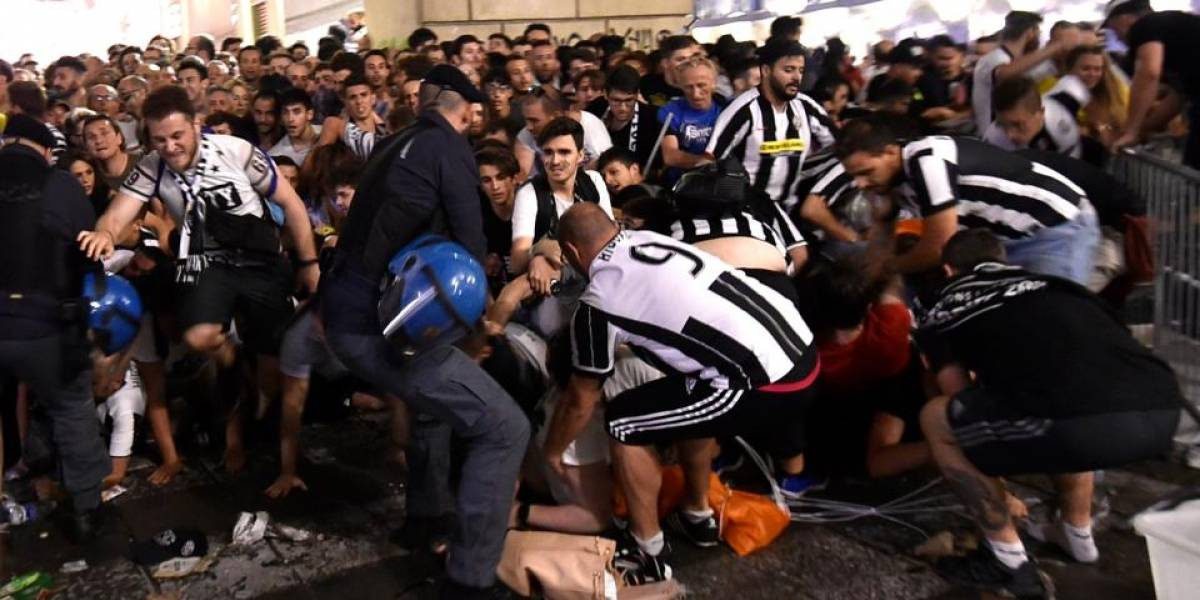 Aumentan a 1,500 los heridos por estampida en Turín
