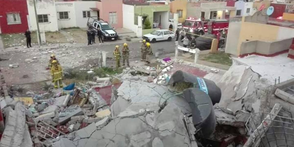 Deja dos lesionados explosión por gas LP en Tepatitlán, Jalisco