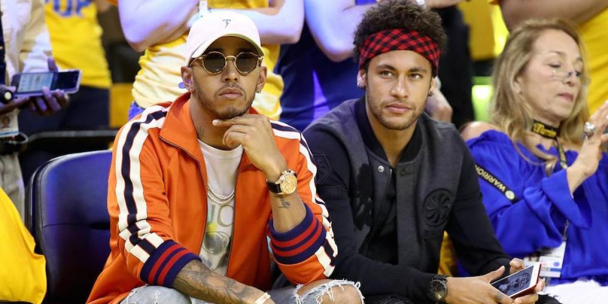 Neymar, Lewis Hamilton y Odell Beckham Jr. se dieron tiempo para asistir a las finales de la NBA