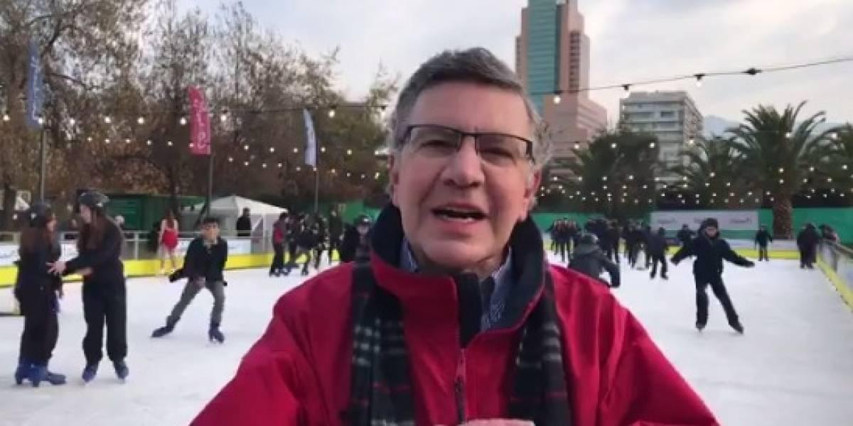 """Lavín lanzó la primera pista de patinaje en hielo pública y """"gratuita"""""""