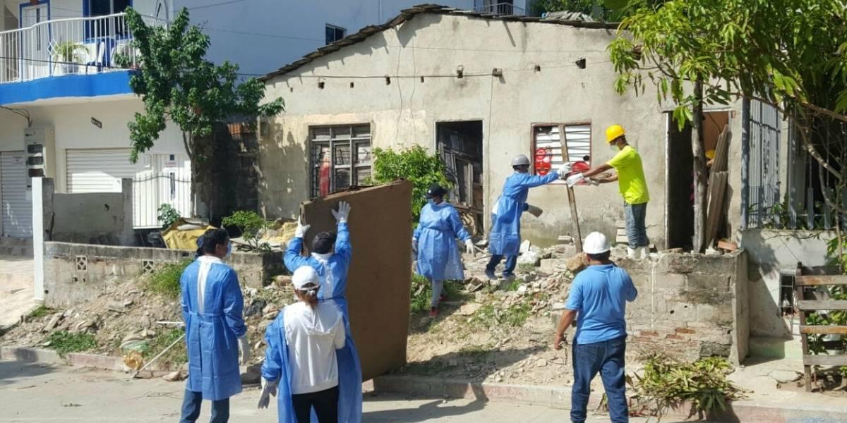 35 toneladas de basura y residuos recogieron de una sola vivienda en Barranquilla
