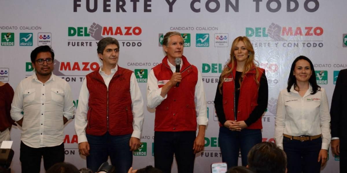 Priistas celebran el triunfo de Alfredo del Mazo