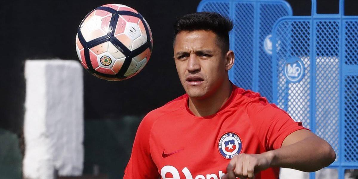 El solitario entrenamiento de Alexis Sánchez en Juan Pinto Durán