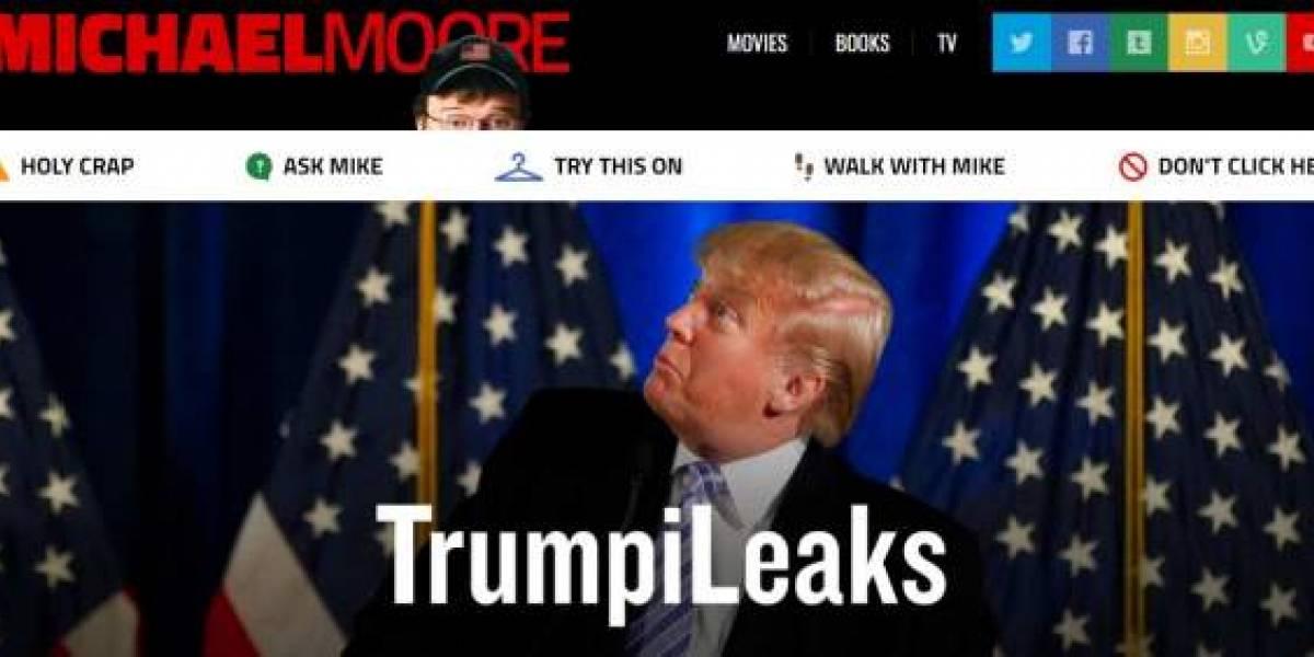 """""""TrumpiLeaks"""": el cineasta Michael Moore lanza portal para filtrar información sobre Trump"""