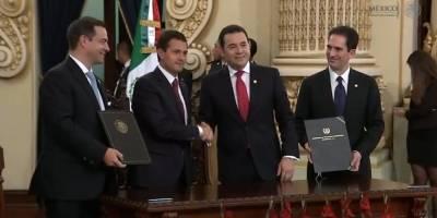 La primera visita del Presidente de México Estado a Guatemala