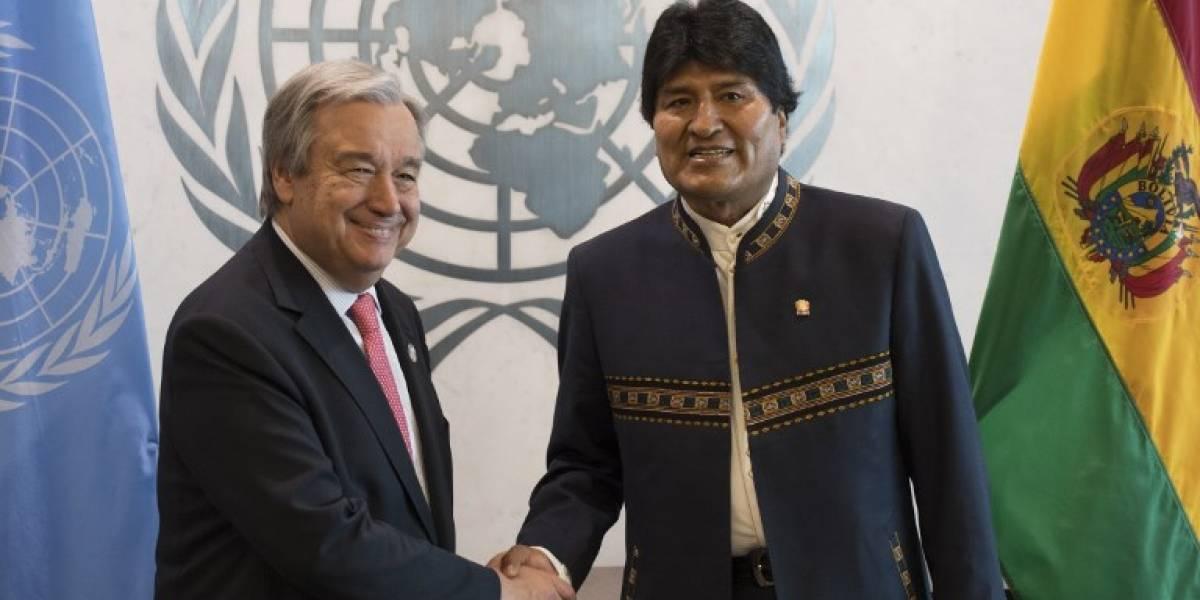 Evo Morales lanza una indirecta a Chile en la ONU
