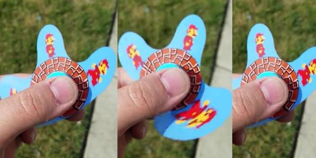 El fidget spinner, inspirado en Super Mario Bros, que causa sensación en el mundo