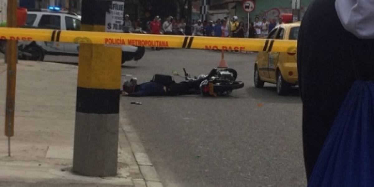 Fletero murió cuando intentó hurtar a pasajeros de un taxi que eran agentes del Gaula