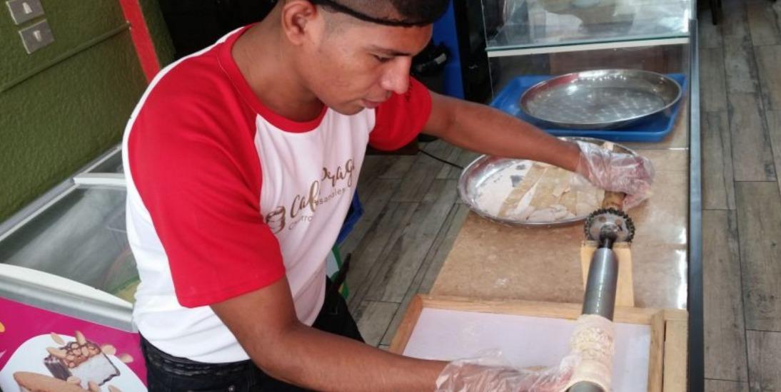 Masa para la preparación de churros artesanales