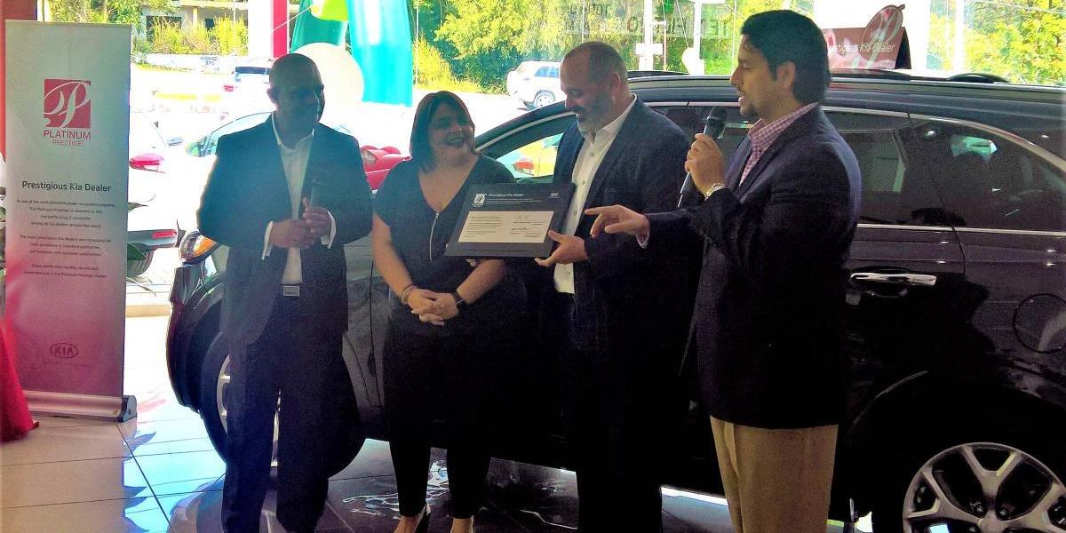 Concesionario de Kia Puerto Rico recibe premio por sus calidad