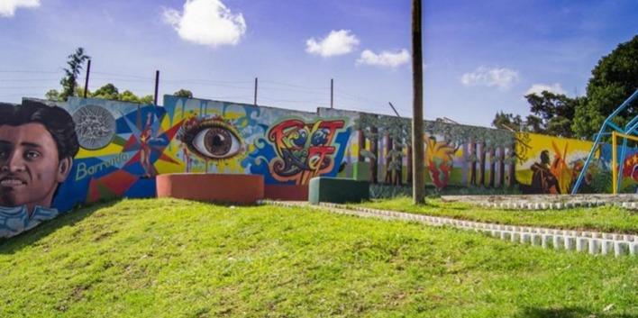 Mural dedicado al Atleta Erick Barrondo