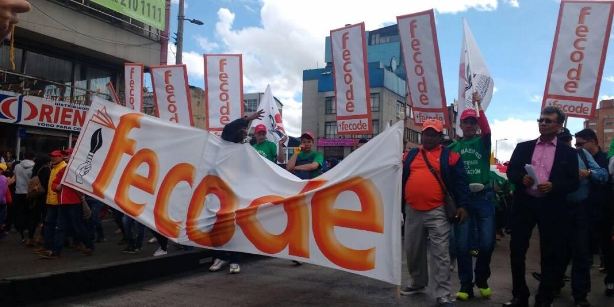 Aproximadamente, 2000 policías de Bogotá acompañarán las manifestaciones de los maestros