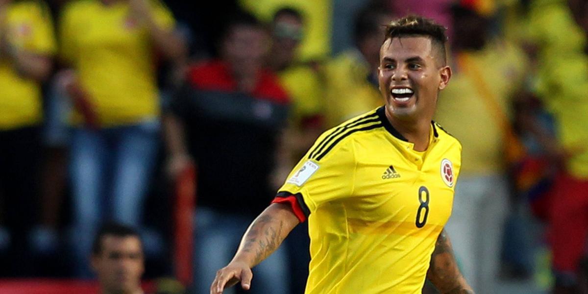 ¡Lleno de gloria! Edwin Cardona metió el gol del empate ante España