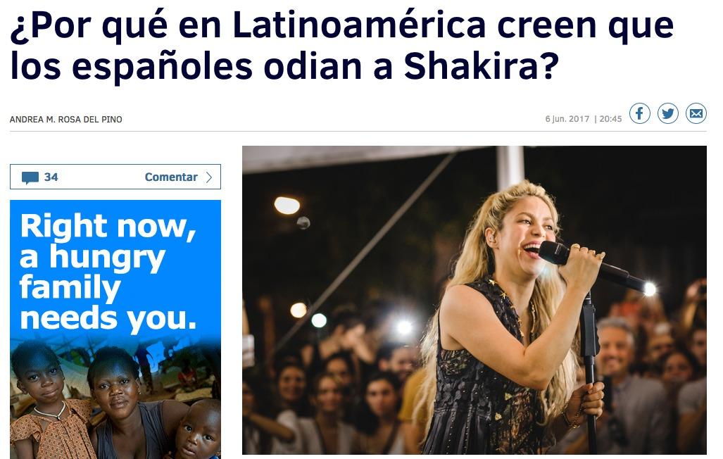 Columna de opinión Shakira