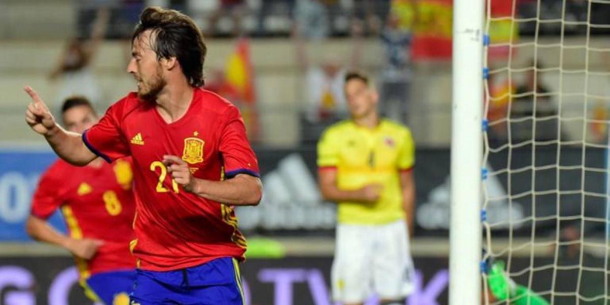 España se salva de una derrota como local contra Colombia en un amistoso